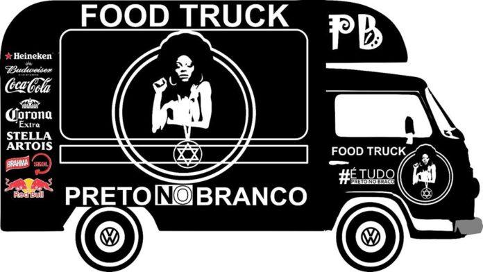 Food Truck Preto no Branco.
