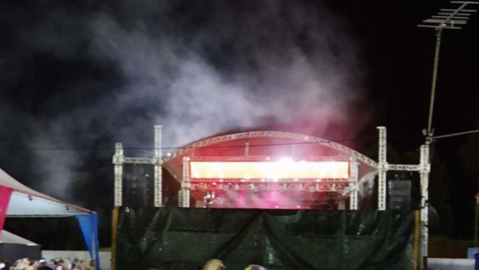 Visão do palco
