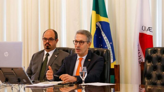 Presidente do Comitê de Orçamentos de Finanças, Mateus Simões e Governador Romeu Zema (Novo)