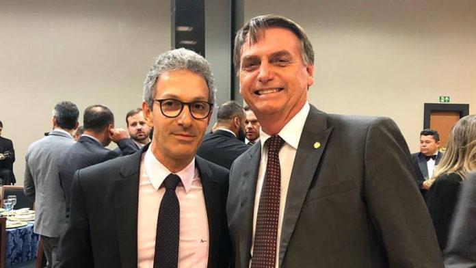 Governador Romeu Zema (Novo) Presidente Jair Bolsonaro (sem partido)