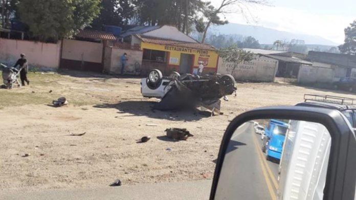 Saveiro envolvida no acidente