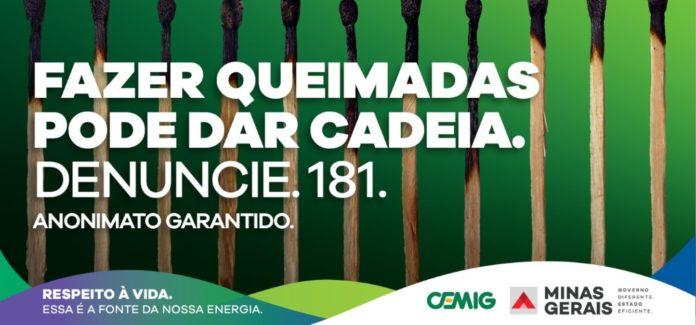 Cemig promove campanha de prevenção de queimadas próximas à rede elétrica.