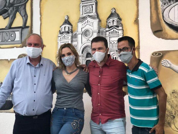 Henrique Wolf, Letícia Wolf, Charlles Evangelista e Donis Almeida