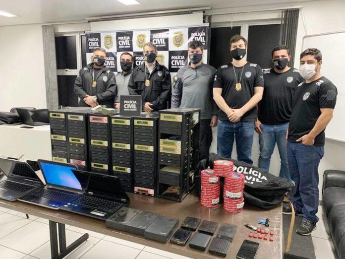 Policiais Civis que participaram da operação em Borda da Mata
