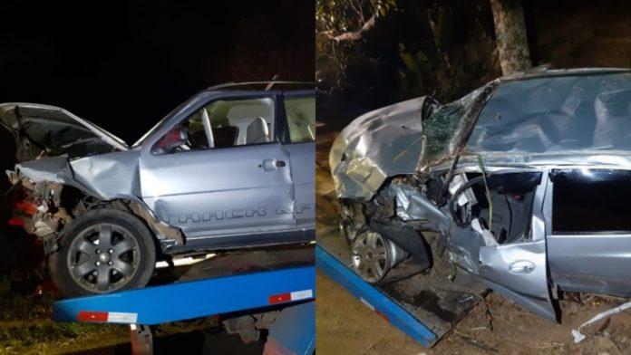 Carros envolvidos no acidente