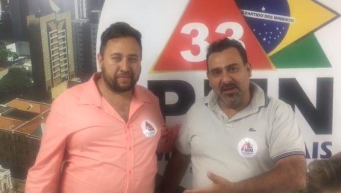 João Giordani ao lado de Agnaldo de Oliveira
