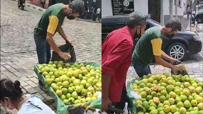 Fiscal apreende mercadoria de vendedor ambulante